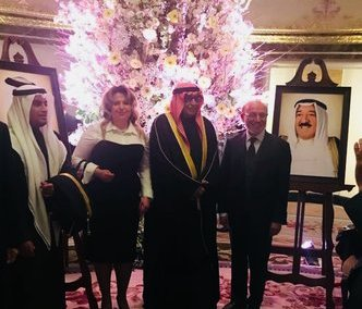 Oksana Howard attends the National Day of the State of Kuwait