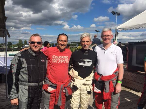 Colman Coyle attends Damon Hill Karting challenge to help raise funds for the Halow charity
