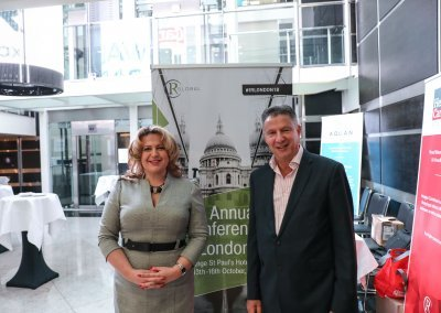 Howard Colman and Oksana Howard attend IR Global Annual Conference in London