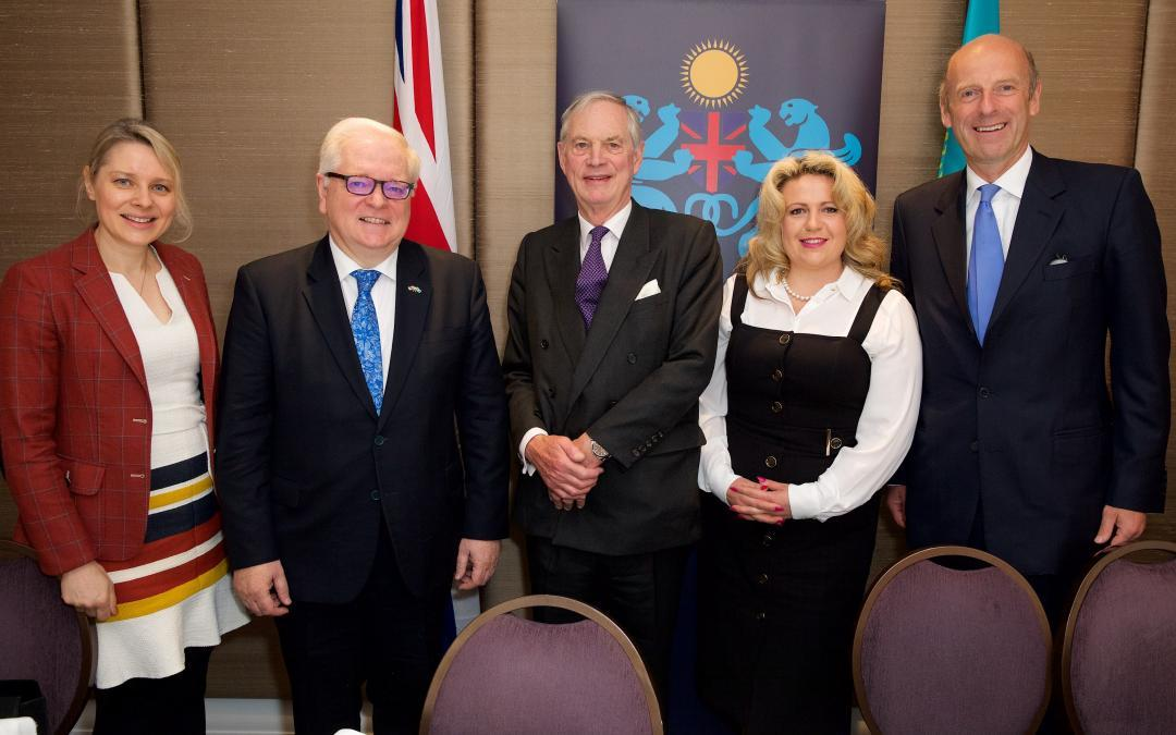 Oksana Howard attends Business Breakfast in honour of the UK Ambassador to the Republic of Kazakhstan