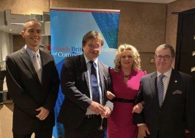 Oksana Howard attends Czech-British Chamber of Commerce Annual Christmas Dinner