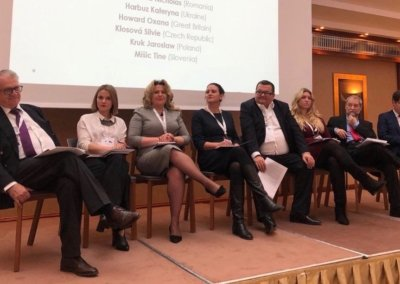 Oksana Howard participates in the market entry panel discussion as a speaker for Great Britain at the IR Global Eastern European Meeting in Prague