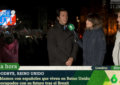 Ignacio Morillas-Paredes appears on live Spanish National TV channel La Sexta following the UK's departure from EU