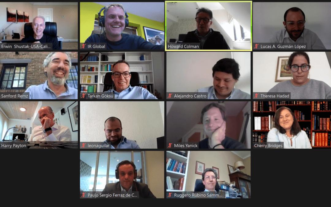 Howard Colman hosts virtual IR Global meeting with international group of dispute resolution lawyers