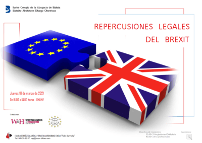 Legal implications of Brexit: Ignacio Morillas-Paredes to participate in webinar organised by the Bizkaia Law Society