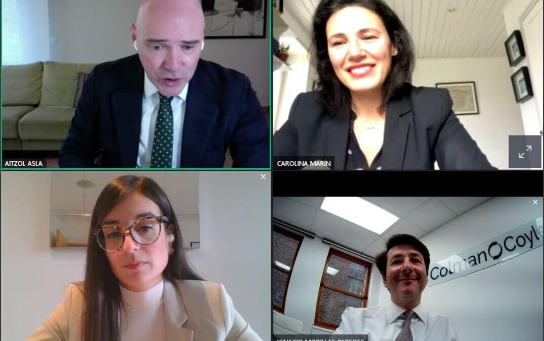 Ignacio Morillas-Paredes delivers successful post-Brexit webinar to sixty-five lawyers from Bizkaia Law Society